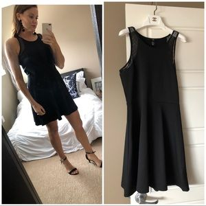 H&M Black classic dress with lace detail
